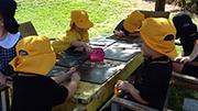 Preschool outdoor art experience