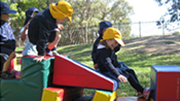 Preschool outdoor imaginative play